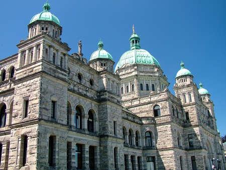 Victoria, BC, Canada - July 10, 2009: British Columbia Parliament Buildings Imagens - 124827621