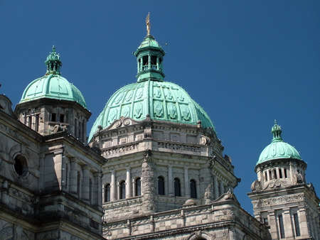 Victoria, BC, Canada - July 10, 2009: British Columbia Parliament Buildings Imagens - 124827624