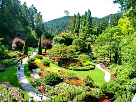 Victoria, British Columbia, Canada, June 25th 2012; Lovely Butchart Gardens in Victoria, BC. Imagens - 124827960