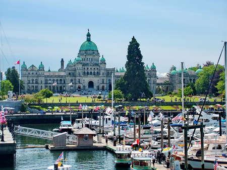 Victoria, BC, Canada - July 10, 2009: British Columbia Parliament Buildings Imagens - 124828027