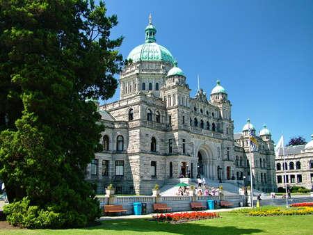 Victoria, BC, Canada - July 10, 2009: British Columbia Parliament Buildings Imagens - 124828029