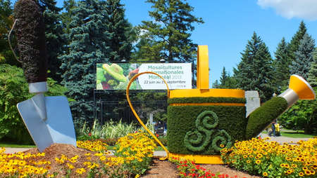 MOSAICULTURES INTERNATIONAL 2013 MONTREAL,BOTANICAL, GARDEN 30 July 2013 This picture represents an entrance gate to the Exhibition,  that took place from 22 June to 29 September 2013.