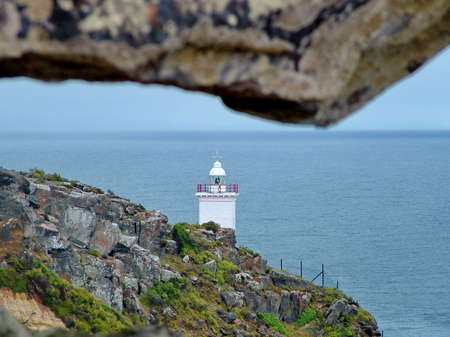 Cape St Blaize Lighthouse in Mossel Bay Stock Photo