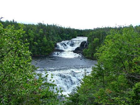 Baker's Brook Falls, Newfoundland, Canada Standard-Bild - 124862154