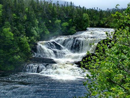 Baker's Brook Falls, Newfoundland, Canada Standard-Bild - 124862156