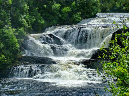 Baker's Brook Falls, Newfoundland, Canada Standard-Bild - 124862185