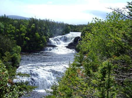 Baker's Brook Falls, Newfoundland, Canada Standard-Bild - 124862191
