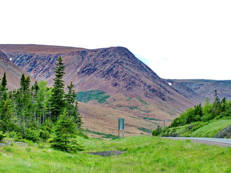 Tablelands in Gros Morne National Park Standard-Bild - 124862195