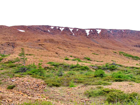Tablelands in Gros Morne National Park Standard-Bild - 124862217
