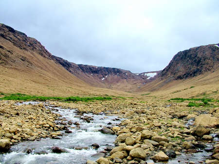 Tablelands in Gros Morne National Park Standard-Bild - 124862282