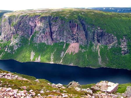 Gros Morne Summit, Newfoundland Standard-Bild - 124862323