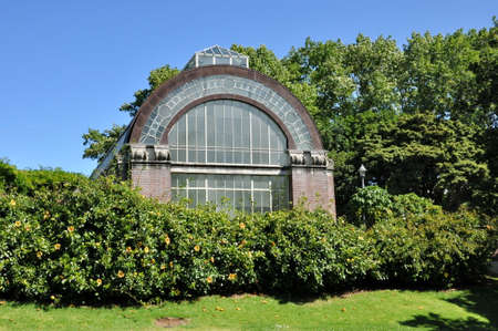 Auckland, New Zealand - December 5, 2016:  View of the tropical hot house at the Auckland Domain Winter Garden, New Zealand.