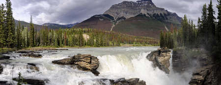 Athabasca Falls in Jasper National Park, Alberta, Canada