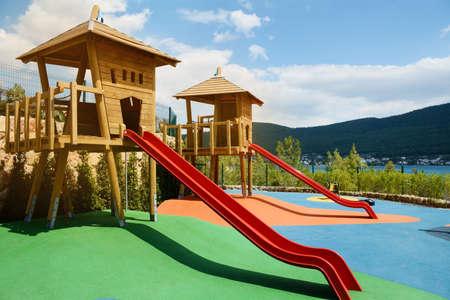 Colorful Children Outdoor Playground Zdjęcie Seryjne