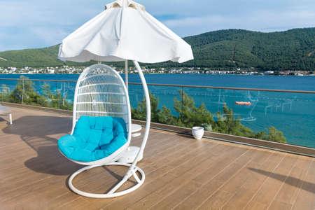 luxury lounge swing chair  with beautiful sea view