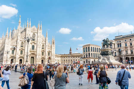 MILAN,ITALY-JUNE 27,2018 : Duomo di Milano, the Cathedral Church of Milan, Lombardy, Northern Italy