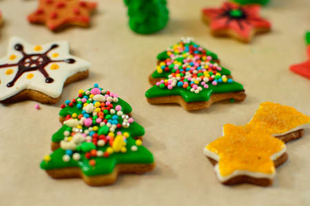 Christmas biscuits at home