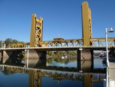 Sacramento Tower Bridge Stock Photo