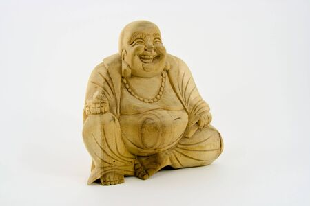 Carved wood buddha from China