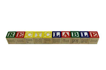 Bloques de juguete alfabeto ortografía reciclables Foto de archivo - 4685295