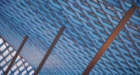 Buttressed ceiling skylights photo