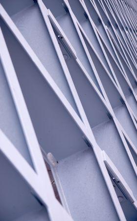 estructura: un edificio de acero de fondo la estructura de la red