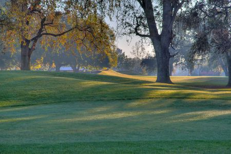 Early Morning Golf Course Greens done in high dynamic range HDR photo