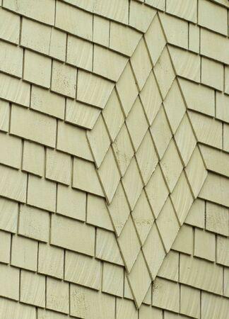 Diamond pattern of Green wood shingles on a bungelow house Stock Photo - 6100580