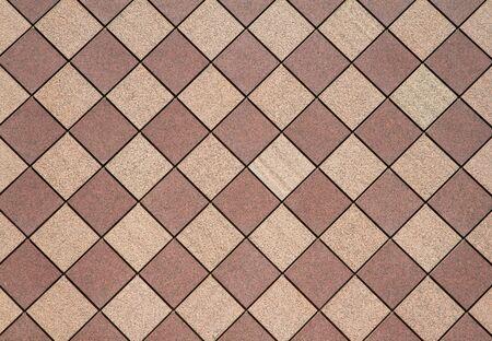 Brown and tan checkered wall in a horizontal image 版權商用圖片