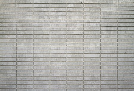 Large wall of white painted bricks taken from distance Stock Photo - 7529500