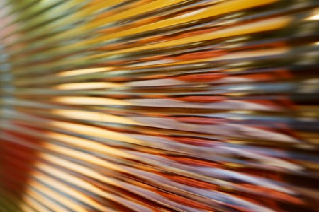 glass partition: Close up image of corrugated glass window partition diminishing in perspective