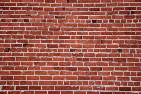 준비와 변화하는 패턴의 다른 음영 붉은 벽돌 벽