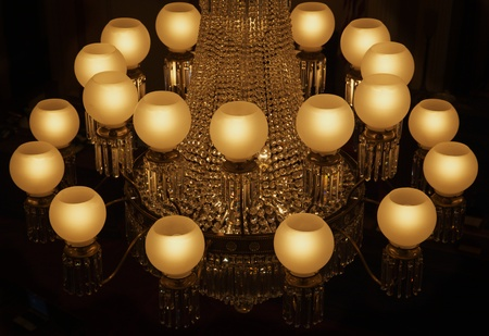 Lustre en cristal Mulit Light au Capitole de la Californie Banque d'images - 8660910