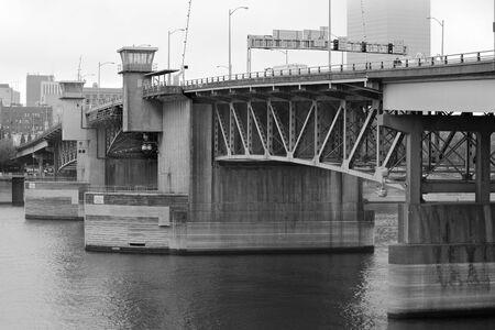 crossings: Portland Burnside Bridge Stock Photo