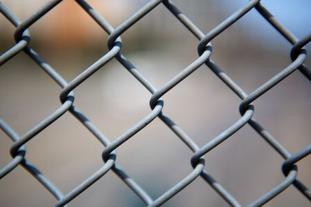 chain link: Narrow Dept of Field close up image of chain link fence Stock Photo