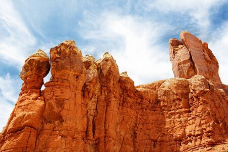 Red Rock Formations in Arches National Park with dramatic Blue Sky Stock Photo - 15638309