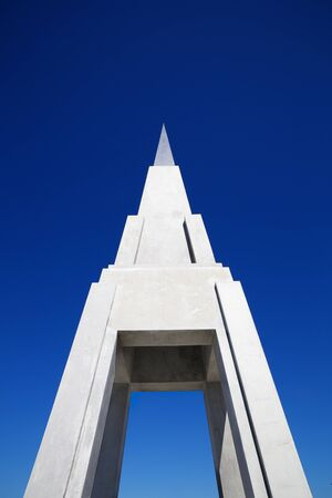 pyramid peak: Pyramid Peak like structure of concrete and steel Stock Photo