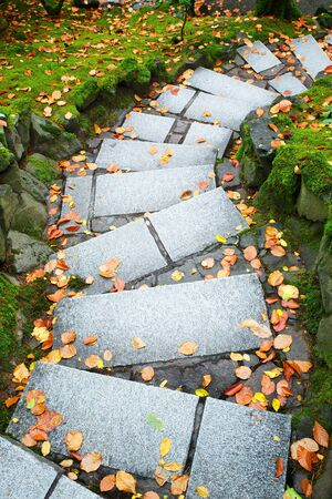 outdoor downward leading steps outdoor in a park