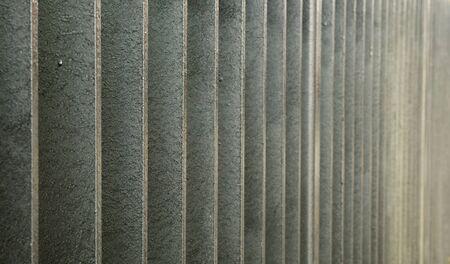 Galvanized Steel bar wall in a diminishing view Banco de Imagens