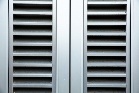 Building steel heating and air conditioning vents Banco de Imagens