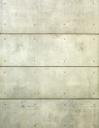 Vertical plain concrete wall with horizontal lines