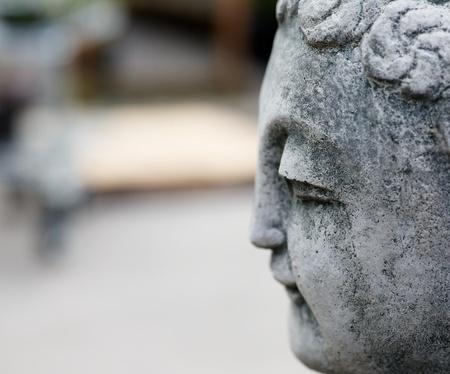 Asian Stone Statue Portrait with soft focus background Banco de Imagens - 21498281