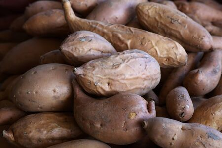 Pile of Yams or Sweet Potatoes at the farmers market Banco de Imagens - 21498307