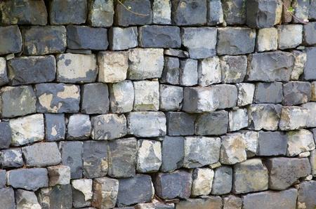 Uneven gray Square blocked wall Banco de Imagens - 21498316