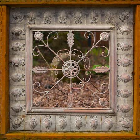 Fancy woos framed home yard fence Banco de Imagens - 22427002