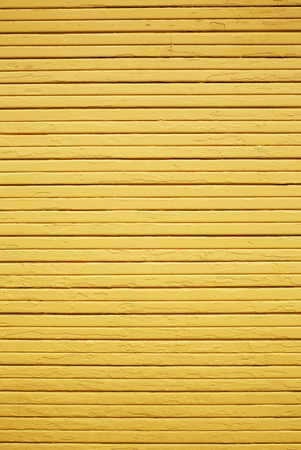 Weather Yellow wood wall vertical composition with horizontal planks Banco de Imagens