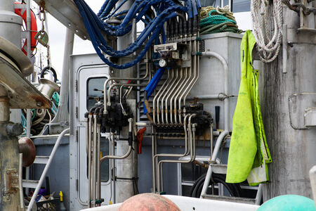 Fishing boat net controls on Alaskan coast