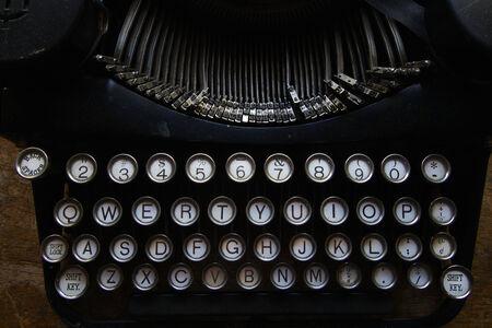 Old Typewriter Keys on vintage machine Banco de Imagens - 29987869