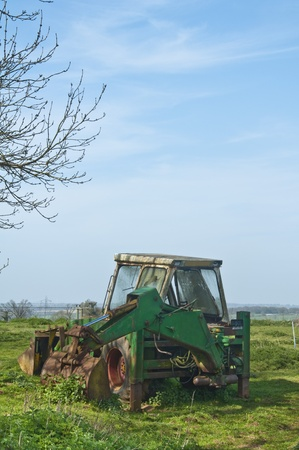 Old Excavator left to rot in a field