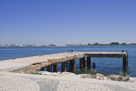 Old pier on the PortugalSpain border
